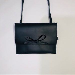 GAP Simple Black Strap Bag with Bow NWOT